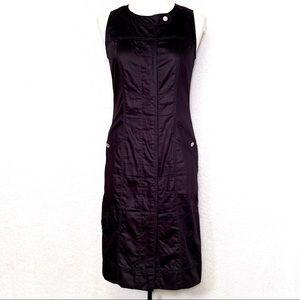 Gerard Darel Black Button Down Utility Dress